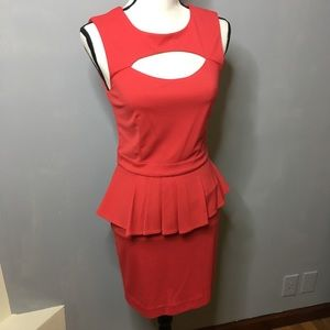 Bebe Coral/red dress. Size small.